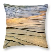 Patterns At Yellowstone #1 Throw Pillow
