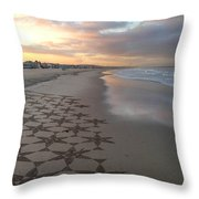 Patterns On Venice Beach Throw Pillow by Art Block Collections
