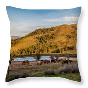Patterson Mountain Afternoon View Throw Pillow