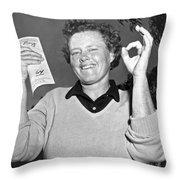 Patty Berg Shoots A 64 Throw Pillow