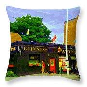 Patty's Pub Guinness On The Glebe Restaurant Bar Bank And Ossington Paintings Of Ottawa Art Cspandau Throw Pillow