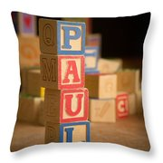 Paul - Alphabet Blocks Throw Pillow