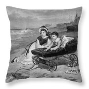 Paul And Florence Dombey Throw Pillow