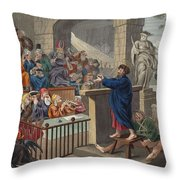 Paul Before Felix, Illustration Throw Pillow