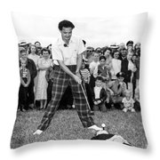 Paul Hahn Golf Stunt Shot Throw Pillow