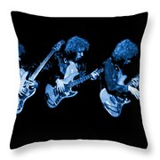 Paul Harwood Of Mahogany Rush Plays The Blues Throw Pillow