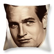 Paul Newman Artwork 1 Throw Pillow