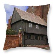 Paul Revere House Throw Pillow by David Davis