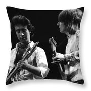 Paul And Mick In Spokane 1977 Throw Pillow