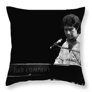 Paul At The Keyboard In Spokane 1977 Throw Pillow