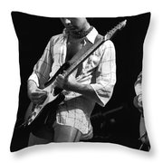 Paul At Work On His Guitar In 1977 Throw Pillow