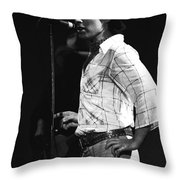 Paul Of Bad Company In 1977 Throw Pillow