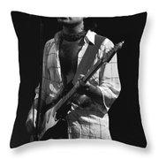 Paul Rocks Spokane 1977 Throw Pillow