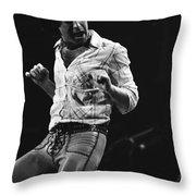 Paul Rocks Steady In Spokane In 1977 Throw Pillow