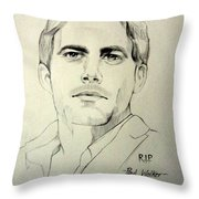 Fast And Furious - Paul Walker Throw Pillow