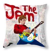 Paul Weller Wham Throw Pillow