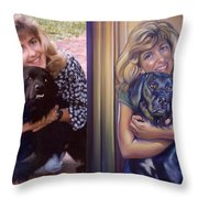 Paula Commissioned Portrait Side By Side Throw Pillow