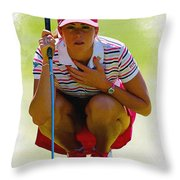 Paula Creamer - Safeway Classic  Throw Pillow