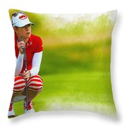 Paula Creamer - The Ricoh Women British Open Throw Pillow