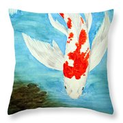 Paul's Koi Throw Pillow