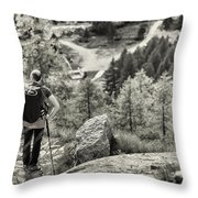 Pause After Climbing Throw Pillow