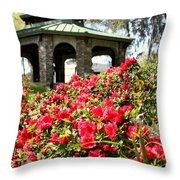 Pavilion And Azaleas  Throw Pillow