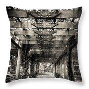 Pavillion Shade At Central Park Throw Pillow