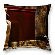 Pay Day Throw Pillow