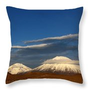Payachatas Volcanos Chile Throw Pillow