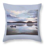 Payette Lake Idaho Throw Pillow
