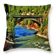 Payette River Scenic Byway Throw Pillow