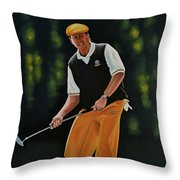 Payne Stewart Throw Pillow by Paul Meijering