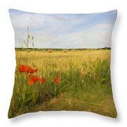 Paysage De Normandie Throw Pillow