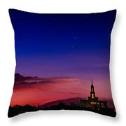Payson Temple Starry Night Artistic Throw Pillow