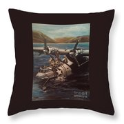 Pby 5 Loading At Pearl Harbor Throw Pillow