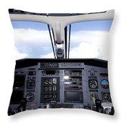 Pc 12 Cockpit Throw Pillow
