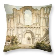Pd.56-1958 West Front Of Castle Acre Throw Pillow