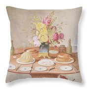 Pd.869-1973 Still Life With A Vase Throw Pillow