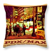 Pdx Max II Throw Pillow
