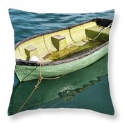 Pea-green Boat Throw Pillow
