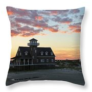 Oregon Inlet Life Saving Station 2693 Throw Pillow