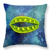 Pea Pod Throw Pillow