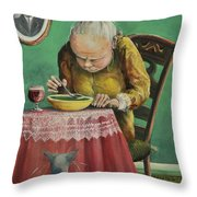 Pea Soup And Cabernet Throw Pillow