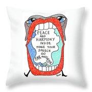 Peace And Harmony Throw Pillow