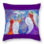 Peace Angels Throw Pillow