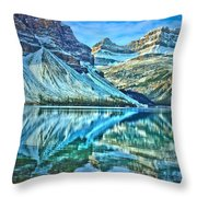 Peace At Bow Lake Throw Pillow