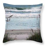 Peace At The Beach Throw Pillow