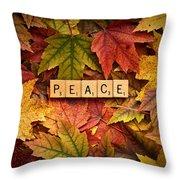 Peace-autumn Throw Pillow