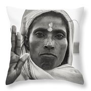 Peace Be With You Throw Pillow