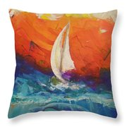 Peace Below The Surface Throw Pillow